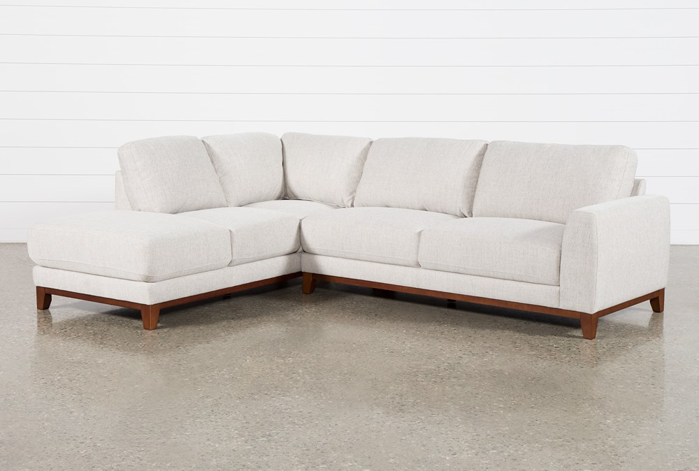 """Amherst Cobblestone 2 Piece 114"""" Sectional With Left Arm Facing Chaise"""