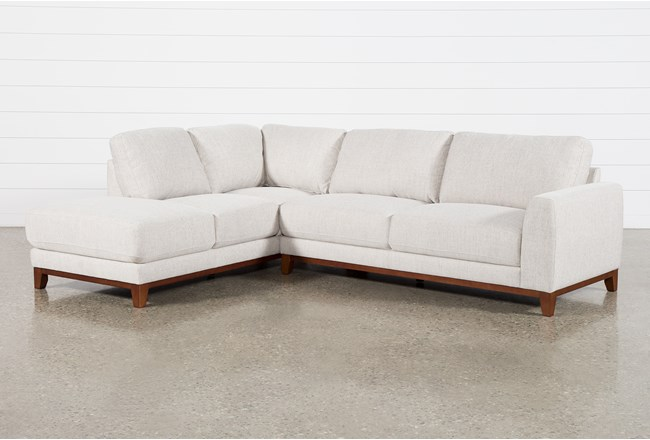 """Amherst Cobblestone 2 Piece 114"""" Sectional With Left Arm Facing Chaise - 360"""