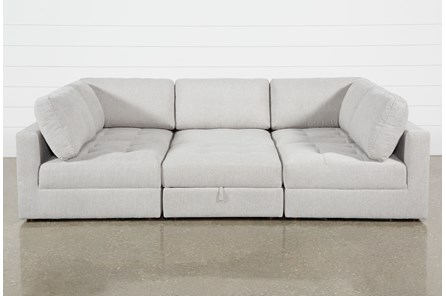 Mikhail 6 Piece Sectional With 2 Corners, 3 Armless Chairs & Ottoman