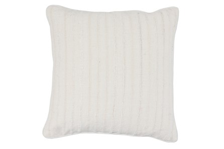 Accent Pillow-White Linen Stripe Stitch 22X22