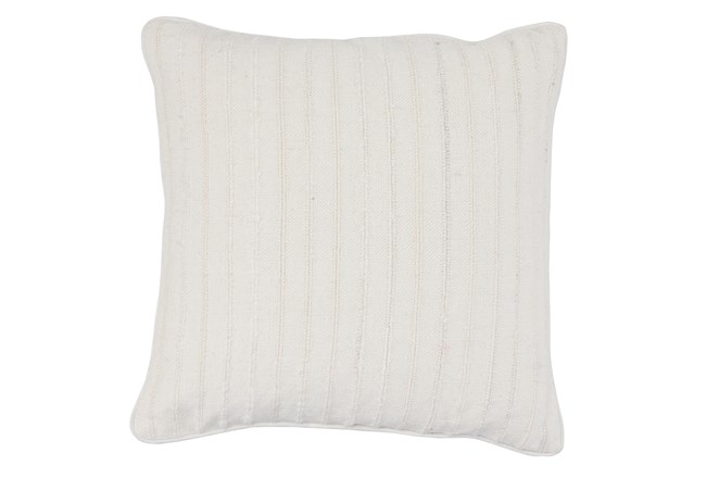 Accent Pillow-White Linen Stripe Stitch 22X22 - 360