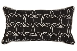 Accent Pillow-Black Print Block Leaf 14X26