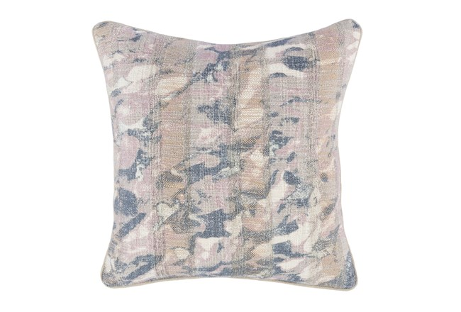 Accent Pillow-Lilac Abstract Print On Linen 18X18 - 360