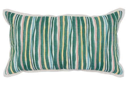 Accent Pillow-Green Multi Color Stripes 14X26 - Main
