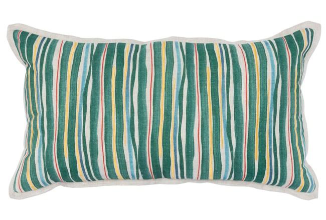 Accent Pillow-Green Multi Color Stripes 14X26 - 360