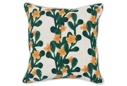 Accent Pillow-Green & Yellow Flower Vines 18X18