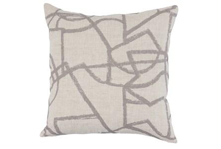 Accent Pillow-Grey Modern Lines 22X22