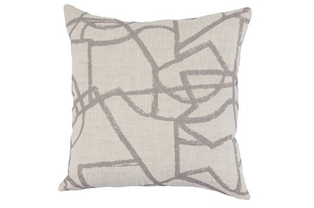 Accent Pillow-Grey Modern Lines 22X22