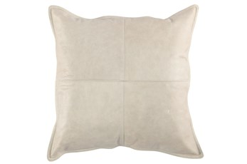 Accent Pillow-Grey Leather 22X22