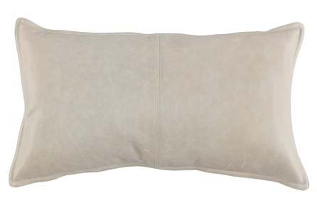 Accent Pillow-Grey Leather 14X26