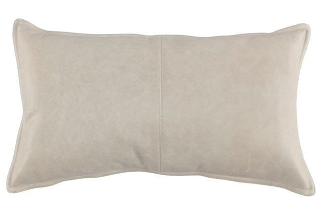 Accent Pillow-Grey Leather 14X26 - 360