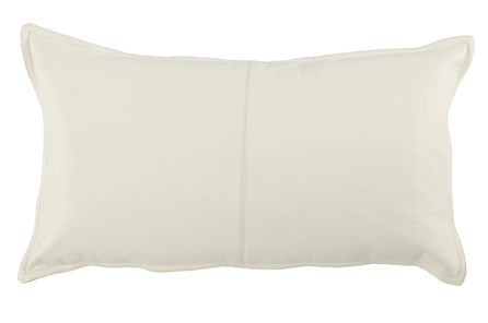 Accent Pillow-Ivory Leather 14X26 - Main
