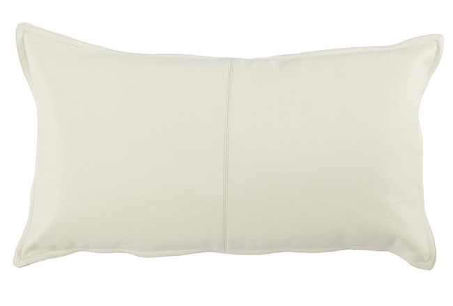 Accent Pillow-Ivory Leather 14X26 - 360