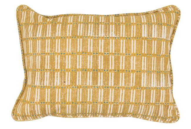 Accent Pillow-Yellow Print Block Grid 14X20 - 360