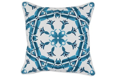 Accent Pillow-French Blue Tile Pattern 18X18
