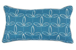 Accent Pillow-French Blue Print Block Leaf 14X26