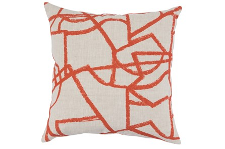 Accent Pillow-Persimmon Modern Lines 22X22