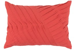 Accent Pillow-Persimmon Cotton Asymetrical Stripes 14X20