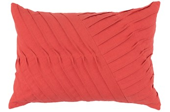 Accent Pillow-Persimmon Cotton Asymetrical Stripes 14X20