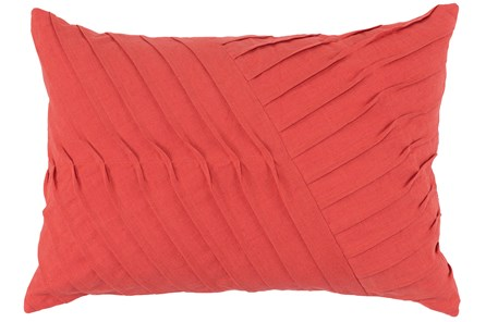 Accent Pillow-Persimmon Cotton Asymetrical Stripes 14X20 - Main