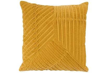 Accent Pillow Yellow Velvet Asymetrical Pleats 20x20