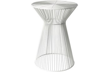 White Metal Stool