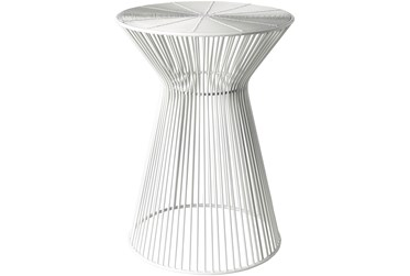 White Metal Stool
