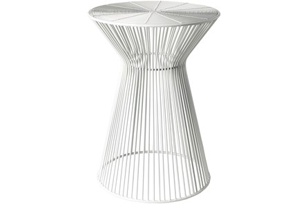White Metal Stool - Main