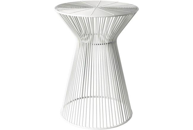White Metal Stool - 360