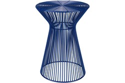 Blue Metal Accent Table