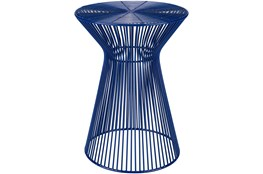 Blue Metal Stool