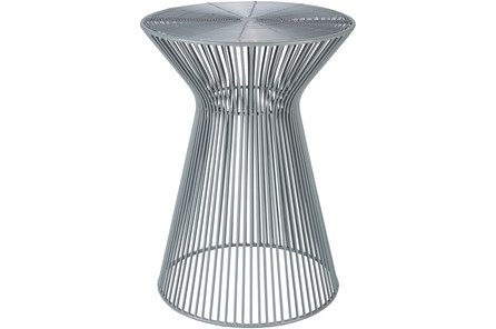 Grey Metal Stool - Main