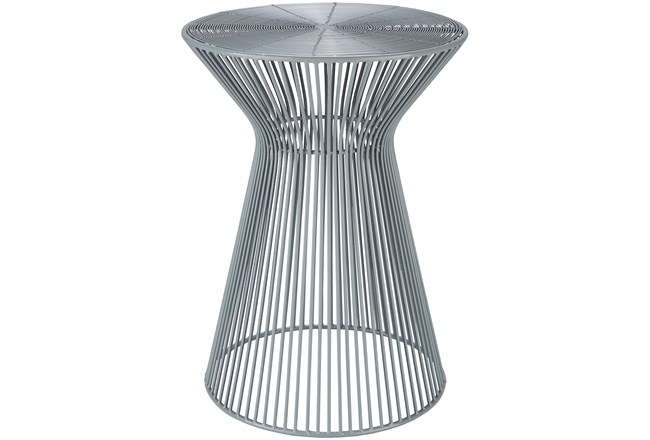 Grey Metal Stool - 360