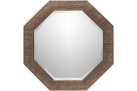 WALL MIRROR-COPPER CROSSHATCH 24X24