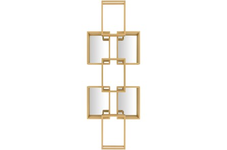 WALL MIRROR-DECORATIVE GOLD BOXES
