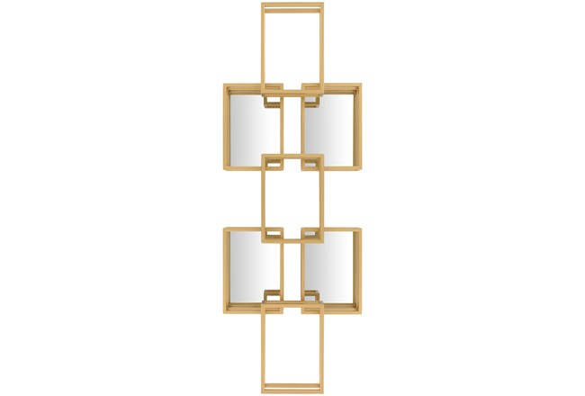 WALL MIRROR-DECORATIVE GOLD BOXES  - 360