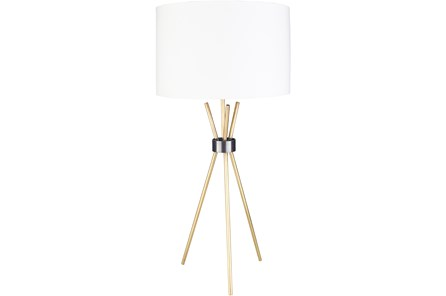 TABLE LAMP-BRASS TRIPOD