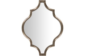 Wall Mirror-Antique Gilded Quatrefoil 30x40