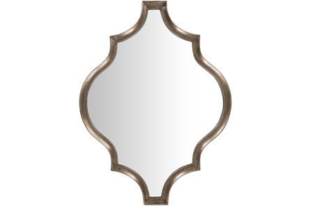 Wall Mirror-Antique Gilded Quatrefoil 30x40