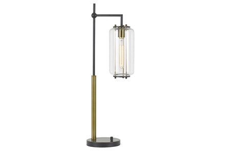 Desk Lamp-Drop Metal + Glass