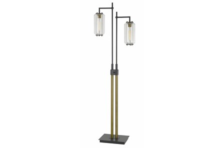 Floor Lamp-Double Drop Metal + Glass - Main