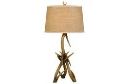 Table Lamp-Antler + Burlap