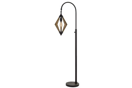 Floor Lamp-Diamond Wood + Metal - Main