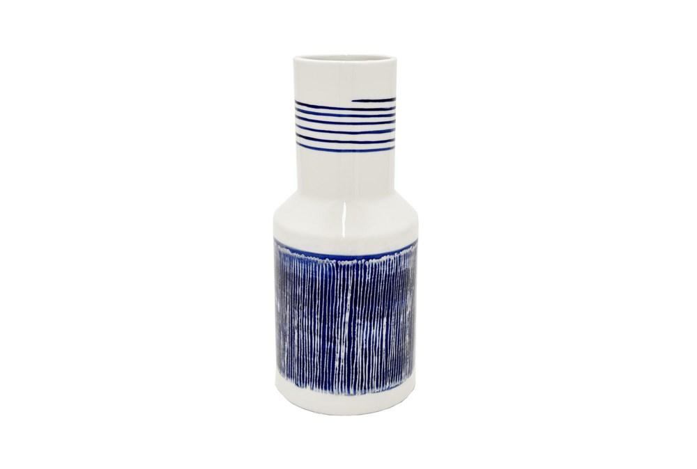14 Inch Blue + White Porcelain Vase