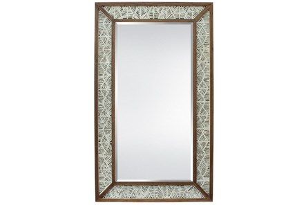 Leaner Mirror-Paper Art Live Edge Wood Wall 45X75