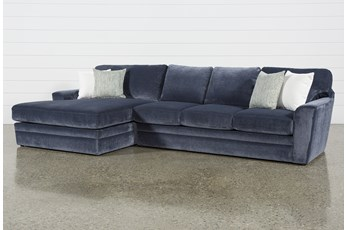 "Prestige Foam 2 Piece 140"" Sectional With Left Arm Facing Oversized Chaise"