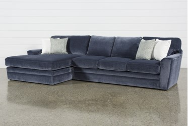 """Prestige Foam 2 Piece 140"""" Sectional With Left Arm Facing Oversized Chaise"""
