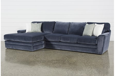 Prestige Foam 2 Piece Sectional With Left Arm Facing Oversized Chaise