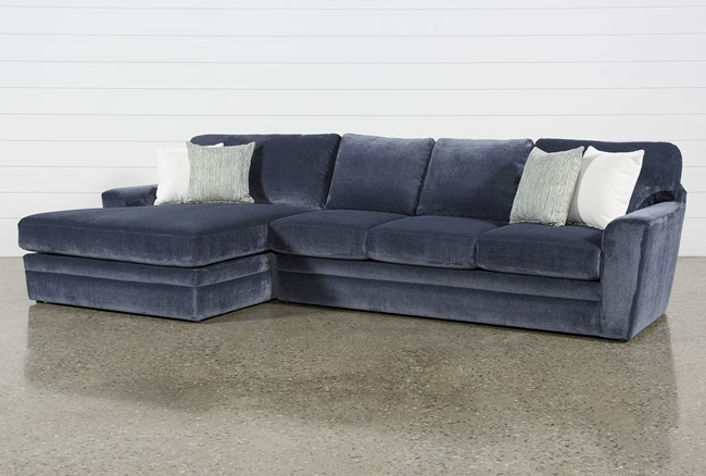 """Prestige Foam 2 Piece 140"""" Sectional With Left Arm Facing Oversized Chaise - 360"""