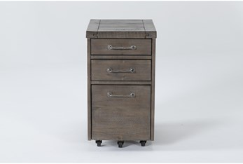 Jaxon Grey Mobile Filing Cabinet With 3 Drawers